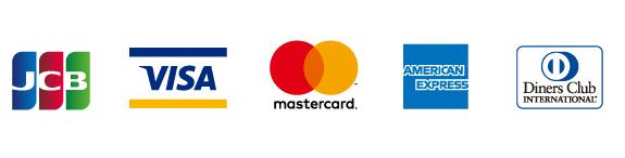 JCB,VISA,mastercard,american express, diners